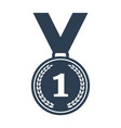 medal icon on white background vector image vector image