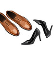 modern fashionable classic shoes men and women vector image