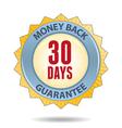 Money back label vector image vector image