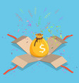 money bag flat isometric concept vector image