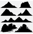 mountain silhouette skyline panoramic view vector image vector image