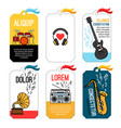music tags or musical labels or banners vector image