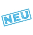 Neu Rubber Stamp vector image vector image