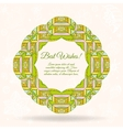 Ornamental round lace background with many details vector image