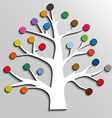 Paper tree with colorful circles infographic vector image vector image