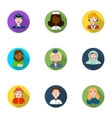 People of different profession set icons in flat vector image vector image