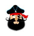 pirate guilty emoji head filibuster culpable vector image vector image