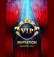 premium invitation card vip party invite vector image vector image