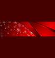 red abstract snowflakes christmas corporate banner vector image vector image