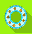 rescue swimming circlesummer rest single icon in vector image