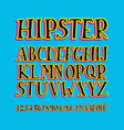 retro stylized bold font and alphabet vector image vector image