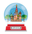 russian snow globe vector image