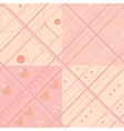 Seamless plaid pink pattern set vector image vector image