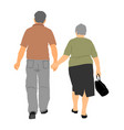 seniors couple in love holding hands vector image vector image