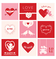 set love cards for valentines day vector image