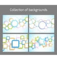 Set of colorful backgrounds vector image