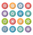 set of simple round snowflakes icons vector image vector image