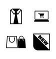 shopping buying clothes simple related icons vector image