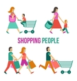 Shopping People Set vector image vector image