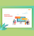 social media networking landing page template vector image