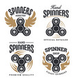 spinner logo emblems vector image vector image
