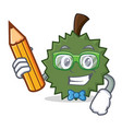 student durian character cartoon style vector image vector image