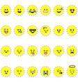 sun emojis vector image vector image