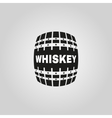 The whiskey icon Cask and keg alcohol symbol UI vector image