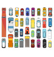 trucks and cars various automobiles and trucks vector image