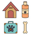 veterinary and pet shop icons vector image