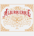 vintage logo with floral frame organized vector image vector image