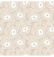 White lace seamless pattern vector image vector image