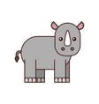wild rhinoceros isolated icon vector image