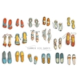 Womens summer shoes vector image