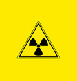 yellow radiation sign triangle on yellow vector image