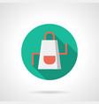 white apron flat round icon vector image