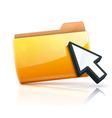 yellow folder icon vector image