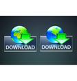 global computer download concept vector image