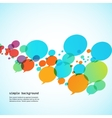 Creative background of colorful speech bubbles eps vector image