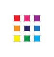Abstract Color Square vector image vector image