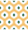abstract seamless pattern with drops in circles vector image vector image