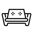 armchair sofa icon outline style vector image vector image