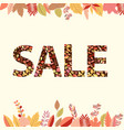 autumn sale on a light background vector image vector image