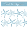 background with hand-drawn starfishes vector image vector image