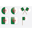badges with flag of Algeria vector image vector image