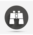 Binocular sign icon Search symbol vector image vector image