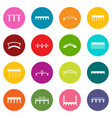 bridge set icons many colors set vector image vector image