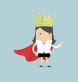 businesswoman wearing a crown vector image vector image