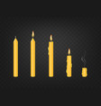 candle in various conditions vector image vector image