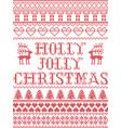 christmas pattern holly jolly christmas carol vect vector image vector image